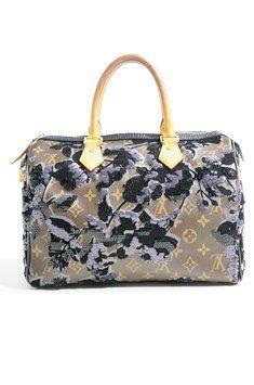 4739237a2f248 Louis Vuitton Limited Edition Sequins Eclipse Speedy 30 Handbag Monogram  Fleur De Jais Canvas Bag - Satchel  2