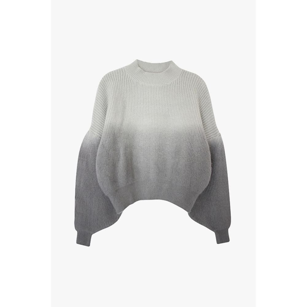 half and half gray cropped sweater...genuine people
