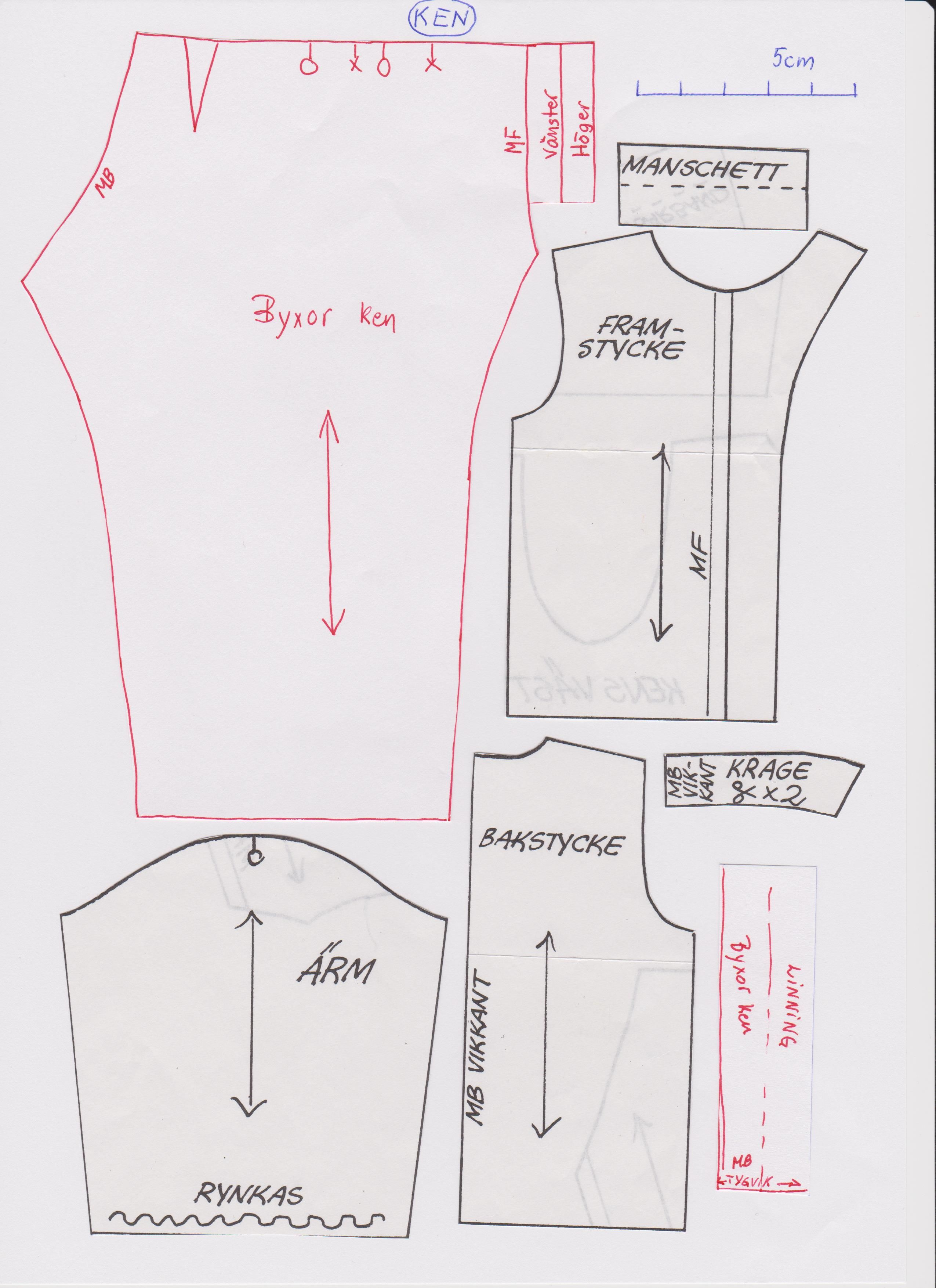 This is an image of Delicate Ken Doll Clothes Patterns
