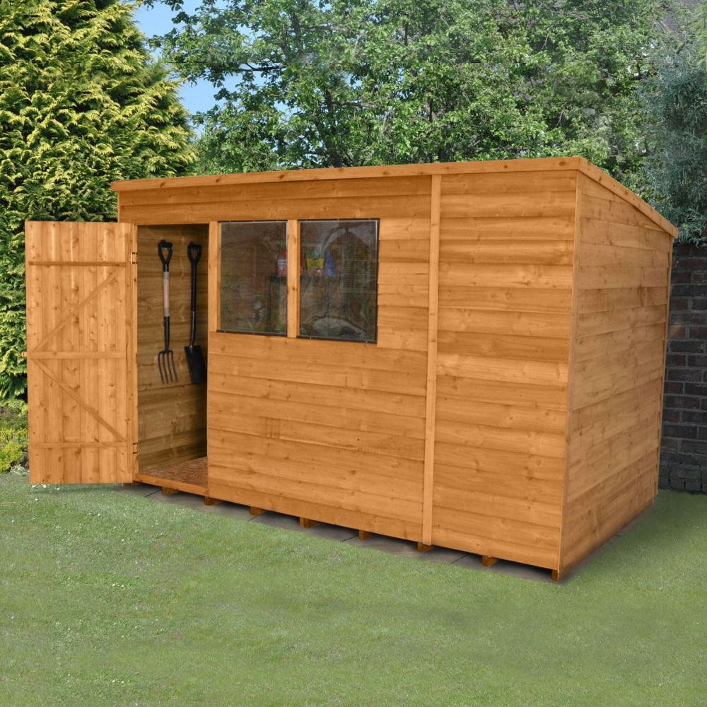 Practical Addition To Your Outdoors This 10x6 Pent Dip Treated Shed Is Spacious And Perfect For Storing Larger Cheap Garden Sheds Wooden Sheds Building A Shed