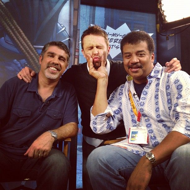 Baba Booey, Chris Hardwick and Neal deGrasse Tyson!