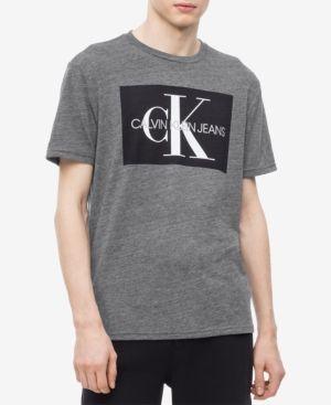 Calvin Klein STRIPE LOGO - T-shirts print - black