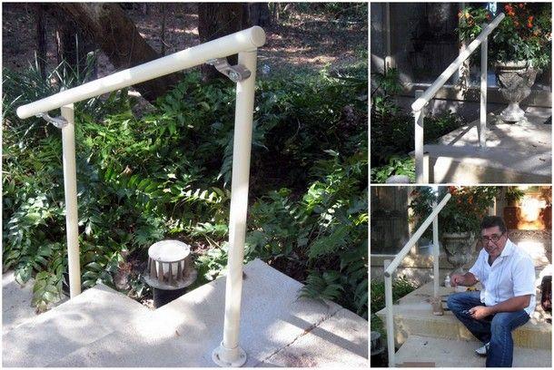 outdoor stair railing projects pinterest treppengel nder treppe und treppengel nder. Black Bedroom Furniture Sets. Home Design Ideas