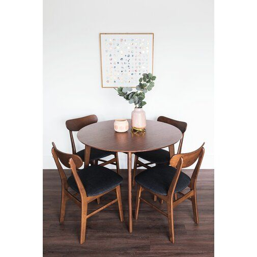 Corrigan Studio Bloomquist Round 5 Piece Dining Set Reviews Wayfair Dining Room Small Dining Room Contemporary Dining Sets Modern Wayfair kitchen table and chairs