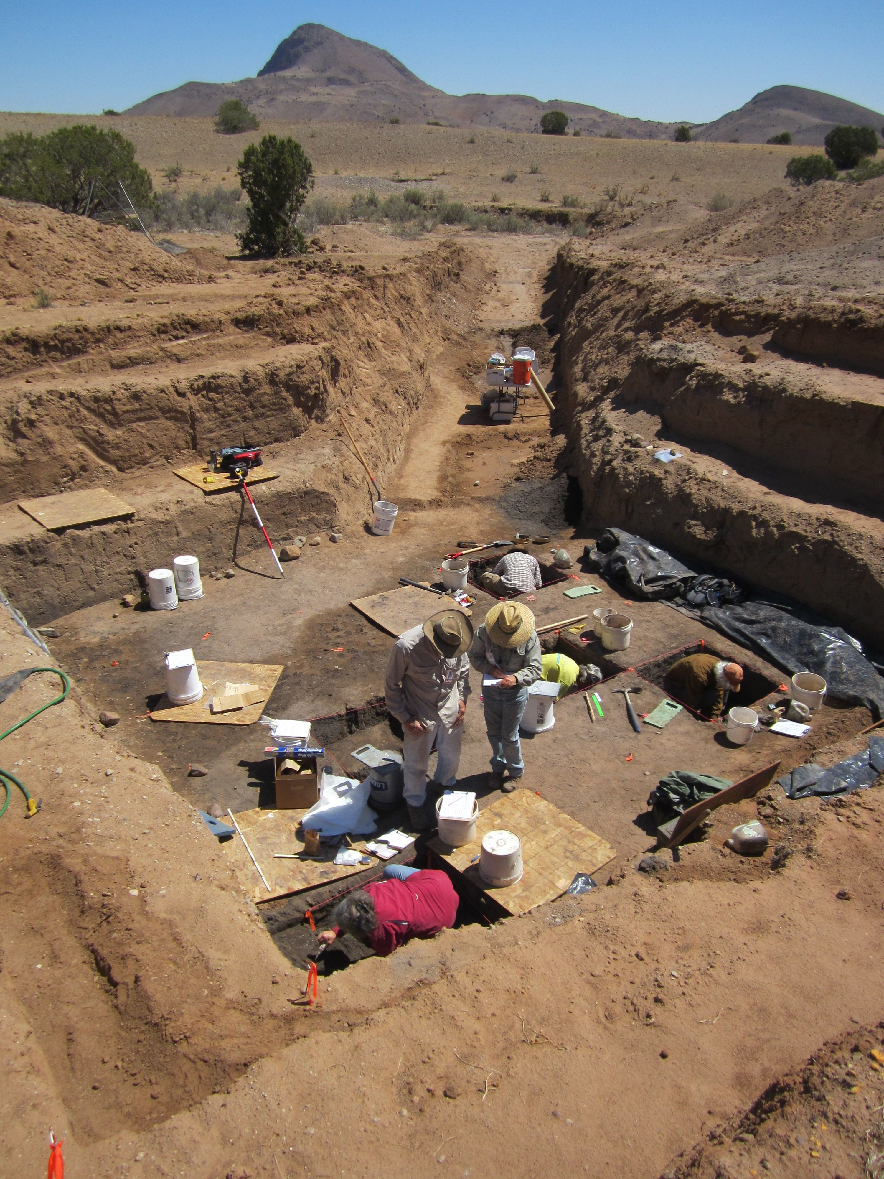 Water Canyon site excavation