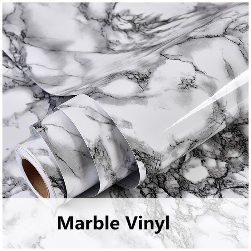 Gray Marble Waterproof Vinyl Self Adhesive Wallpaper Sticker Modern Contact Pape Marble Vinyl Wall Vinyl Decor Wallpaper Stickers