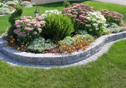 Raised Landscape Bed Using Landscape Block Clinic 48