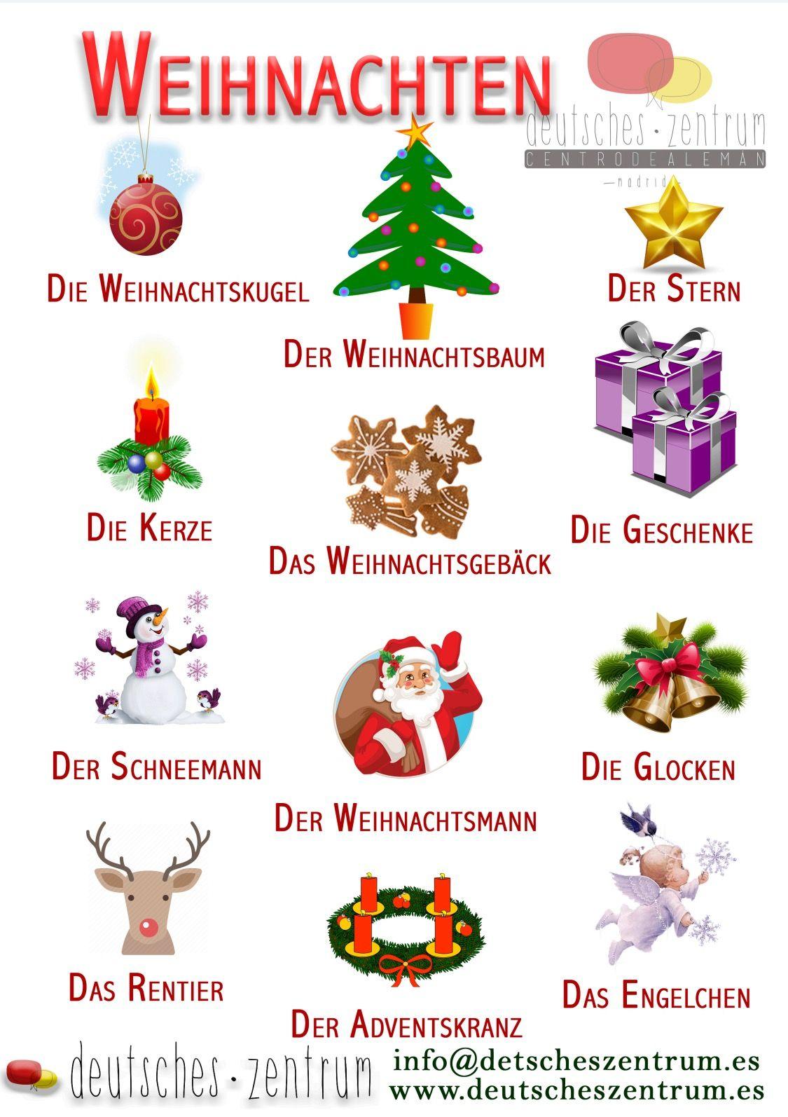 Weihnachten Vocabulario Wortschatz