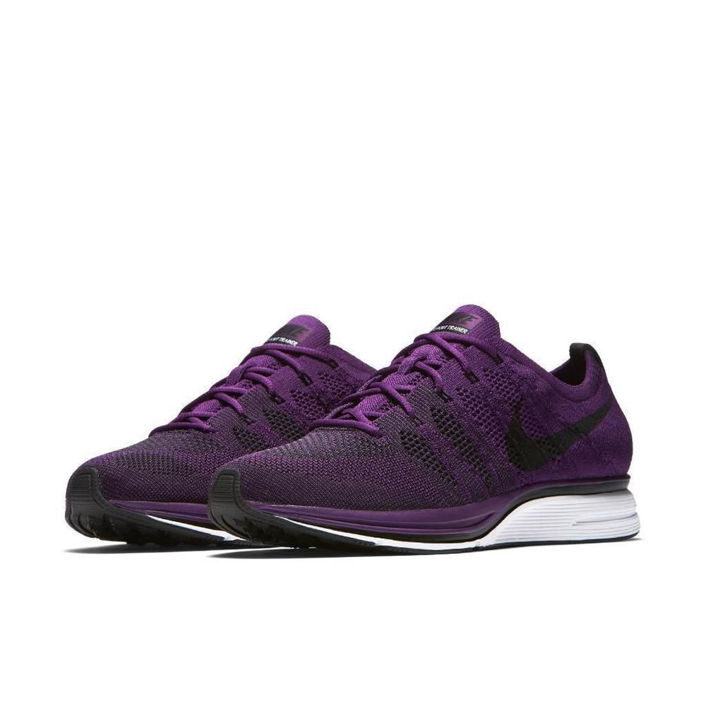 7d40f2b00adc Nike Flyknit Trainer Mens Running Shoes 11.5 Night Purple Black  Nike   RunningShoes
