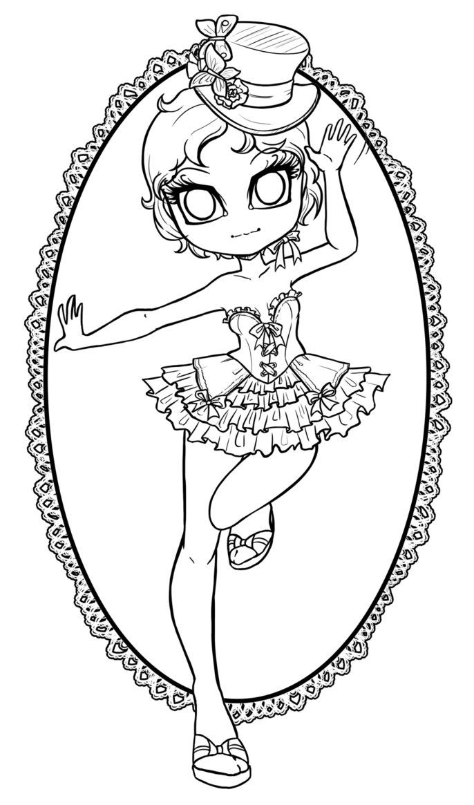 Lineart commission for sheus a cherry blossom fairy teehee my