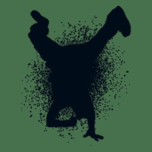 Hip Hop Dance Splash Paint Silhouette Transparent Png Hip Hop Dance Hip Hop Silhouette Png