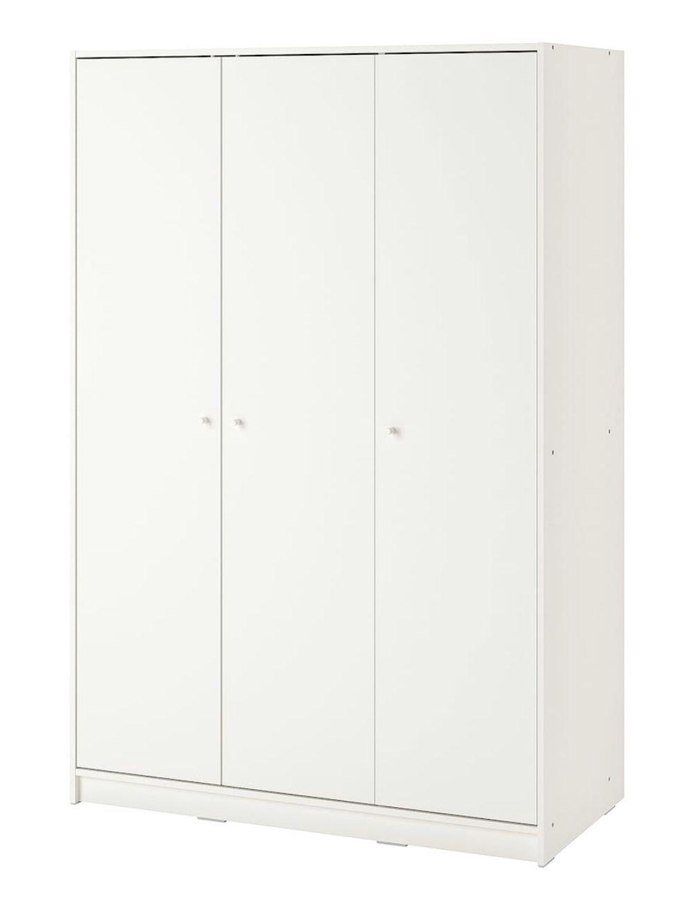Kleppstad Wardrobe With 3 Doors White 46 1 8x69 1 4 Ikea In 2021 White Storage Cabinets Large Storage Cabinets Wardrobe Storage Cabinet White storage cabinet with doors