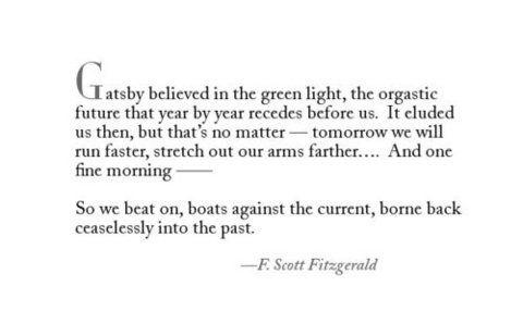 The great gatsby quote F Scott Fitzgerald