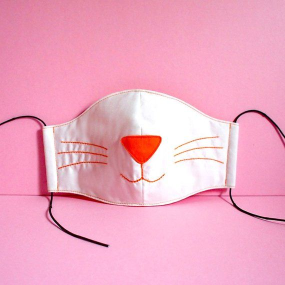 Photo of Cat Face Mask – Cat Mouth Mask – Cute Anti Dust Mask – Reusable Pollution Mask – White Kitty Cat Mask – Neko Cosplay Kawaii Harajuku Fashion