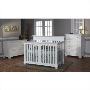 Bundle 51 Torino Crib Set In White 2 Pieces Crib Sets Nursery Set Furniture