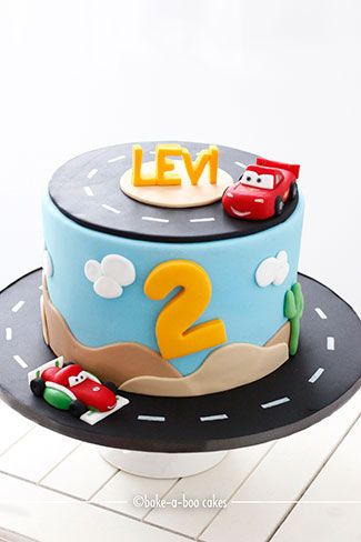 Bakeaboo Cakes Cupcakes Auckland New Zealand Disney Cars Cake Cars Birthday Cake Car Cake