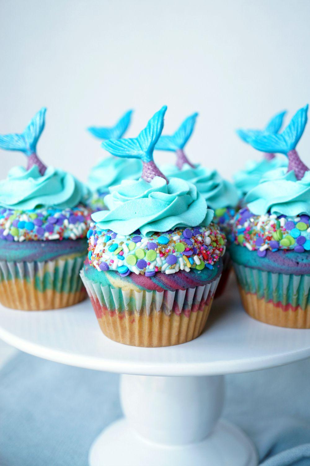 mermaid birthday cupcakes Fancy cupcakes, Cupcake cakes