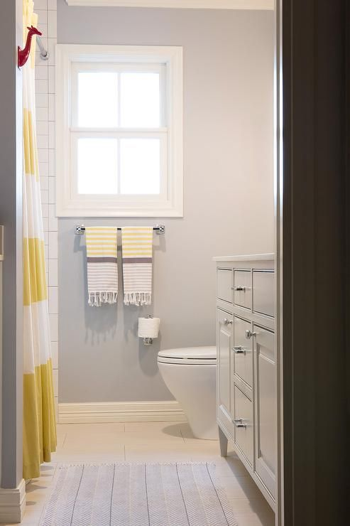Yellow And Grey Kids Bathroom Contemporary Bathroom Bathroom - Yellow bathroom mats for bathroom decorating ideas