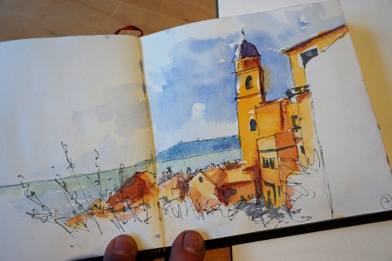 Croquis Aquarelle De Didier Georges Aux Cinque Terre Art
