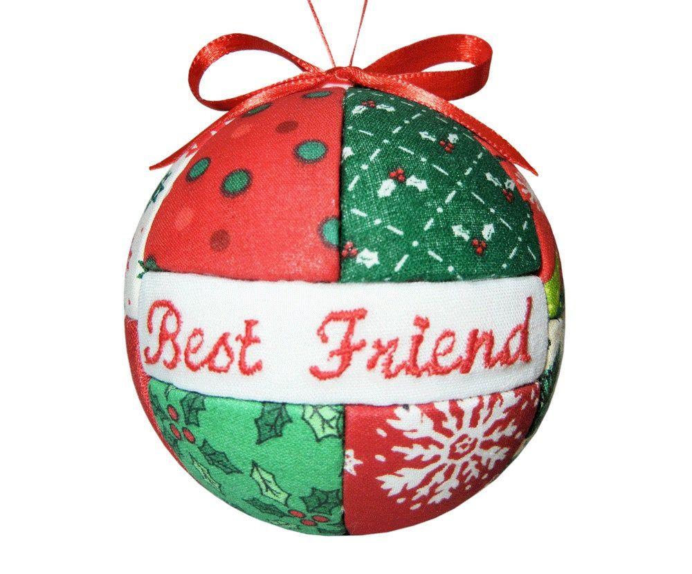 Best friend christmas ornament personalized ornament