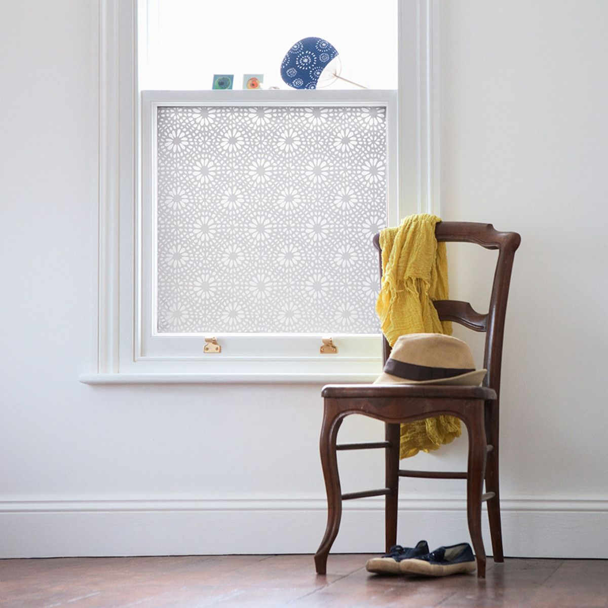 Lace Window Film - great for privacy instead of curtains - while ...