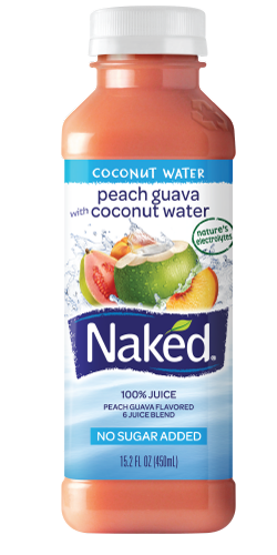 Naked juice in a bed something