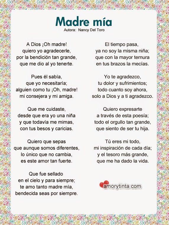 Poemas Para Las Madres Google Search Poema Para La Madre Carta Para Mama Poemas Para Mama