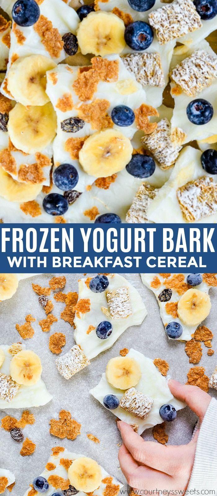#ad Frozen Yogurt Bark Breakfast Cereal @kelloggsus @samsclub #KelloggsCerealYourWay