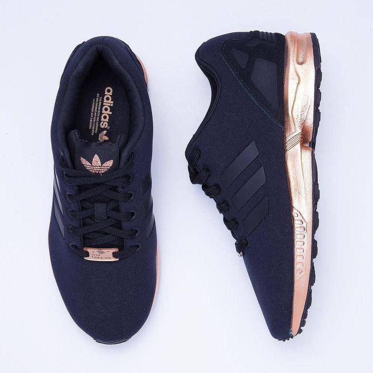 adidas zx flux cuivre or rose bronze noir