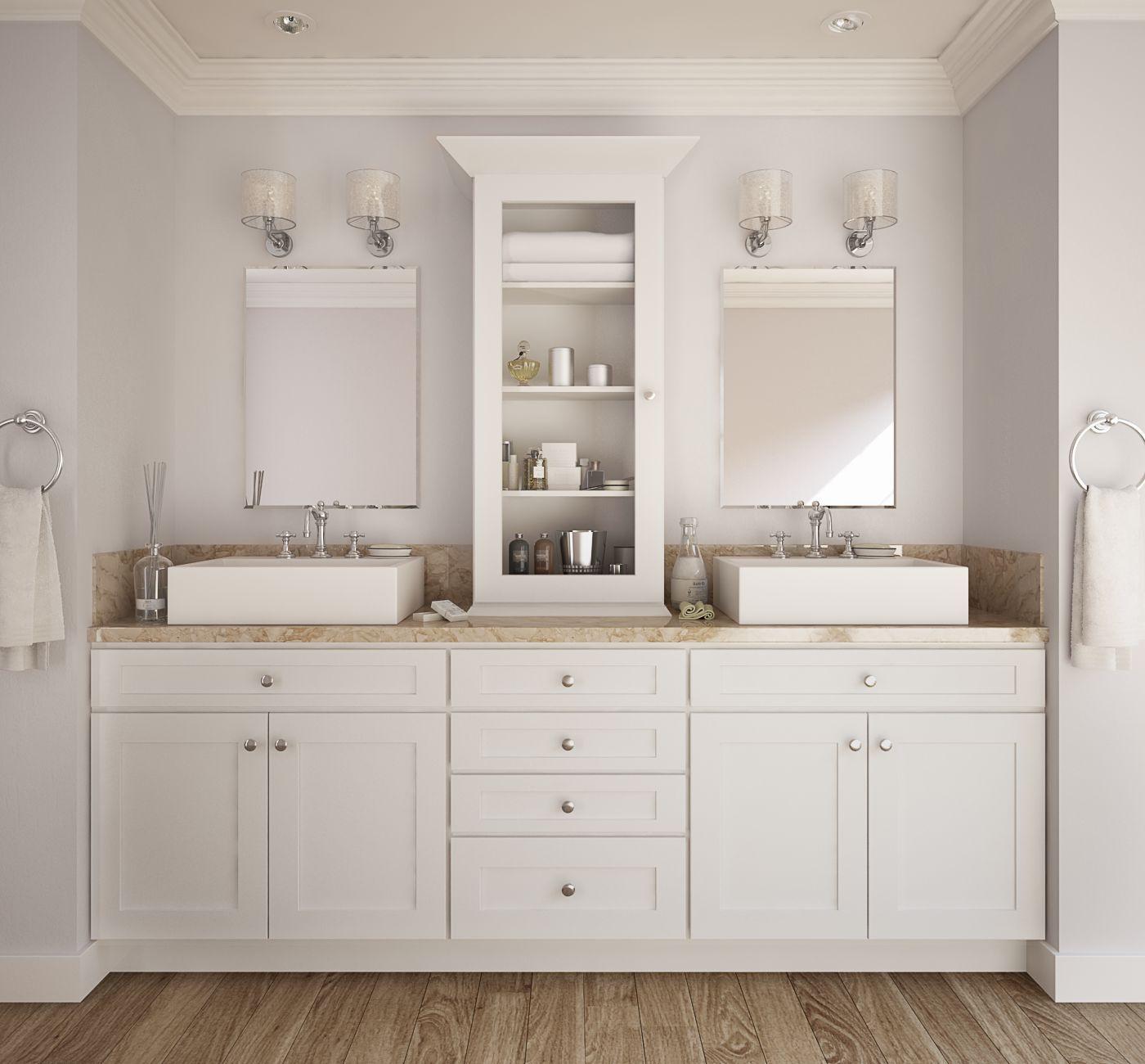 Semi Custom Society Shaker White Pre Assembled Kitchen Cabinet