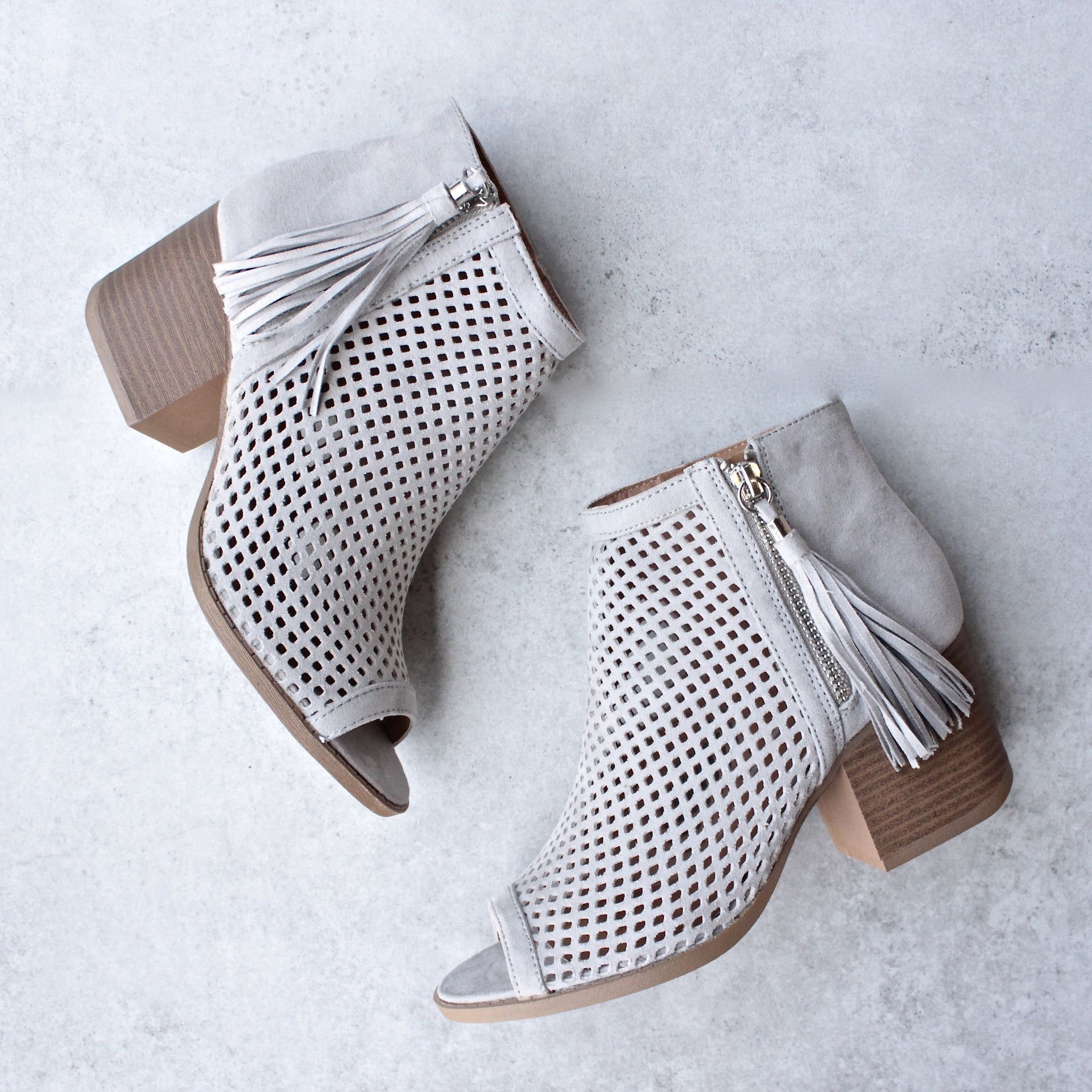 Olivia Perforated Ankle Booties More Colors Sole Ankle And Big