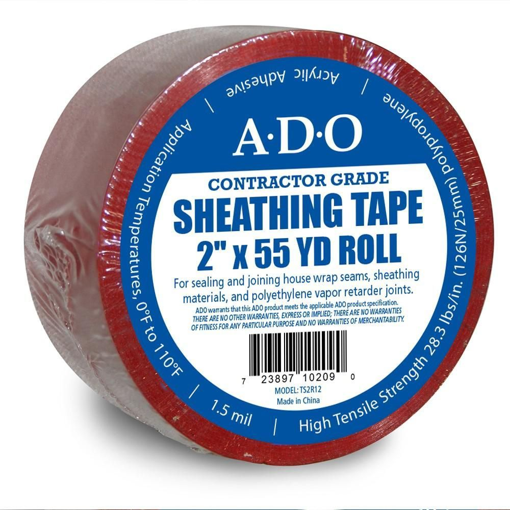 Ado products 2 in x 55 yds red sheathing tapets2r12