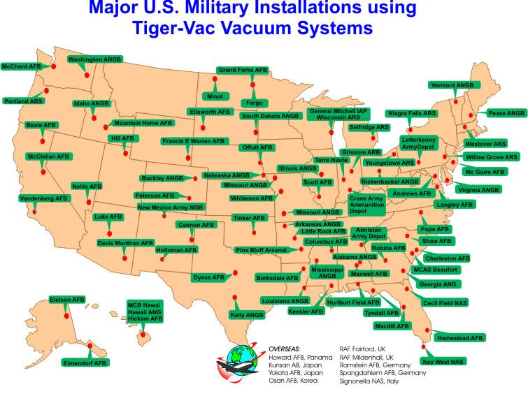 Map Of Military Bases In The Continental US Map Us Military Bases