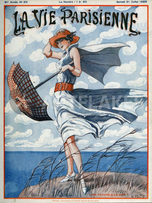 """La vie Parisienne, 1923"" Picture art prints and posters by Advertising Archives - ARTFLAKES.COM"