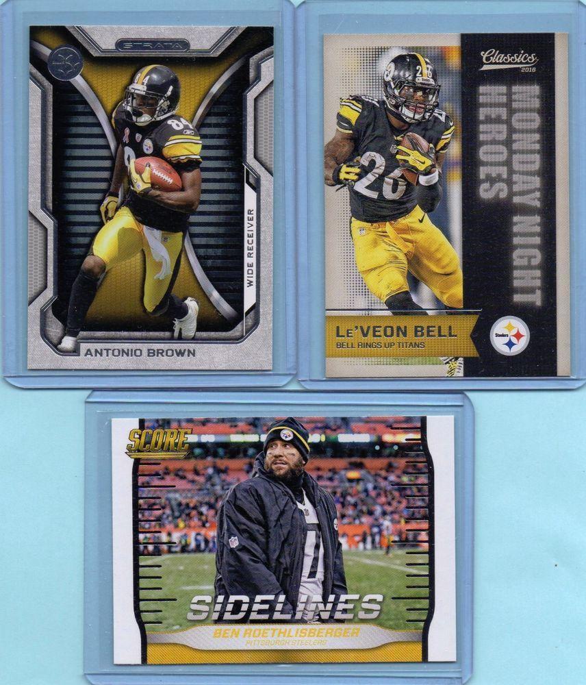 sale retailer d4007 43363 Pittsburgh Steelers Lot X3 Antonio Brown / Roethlisberger ...