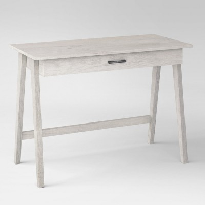 Paulo Wood Writing Desk With Drawer White Wash Project 62 Wood Writing Desk Writing Desk With Drawers Desk With Drawers