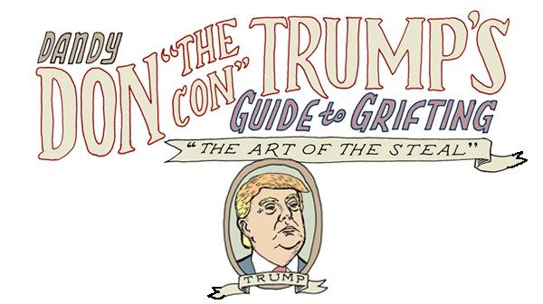 Image result for trump con cartoons