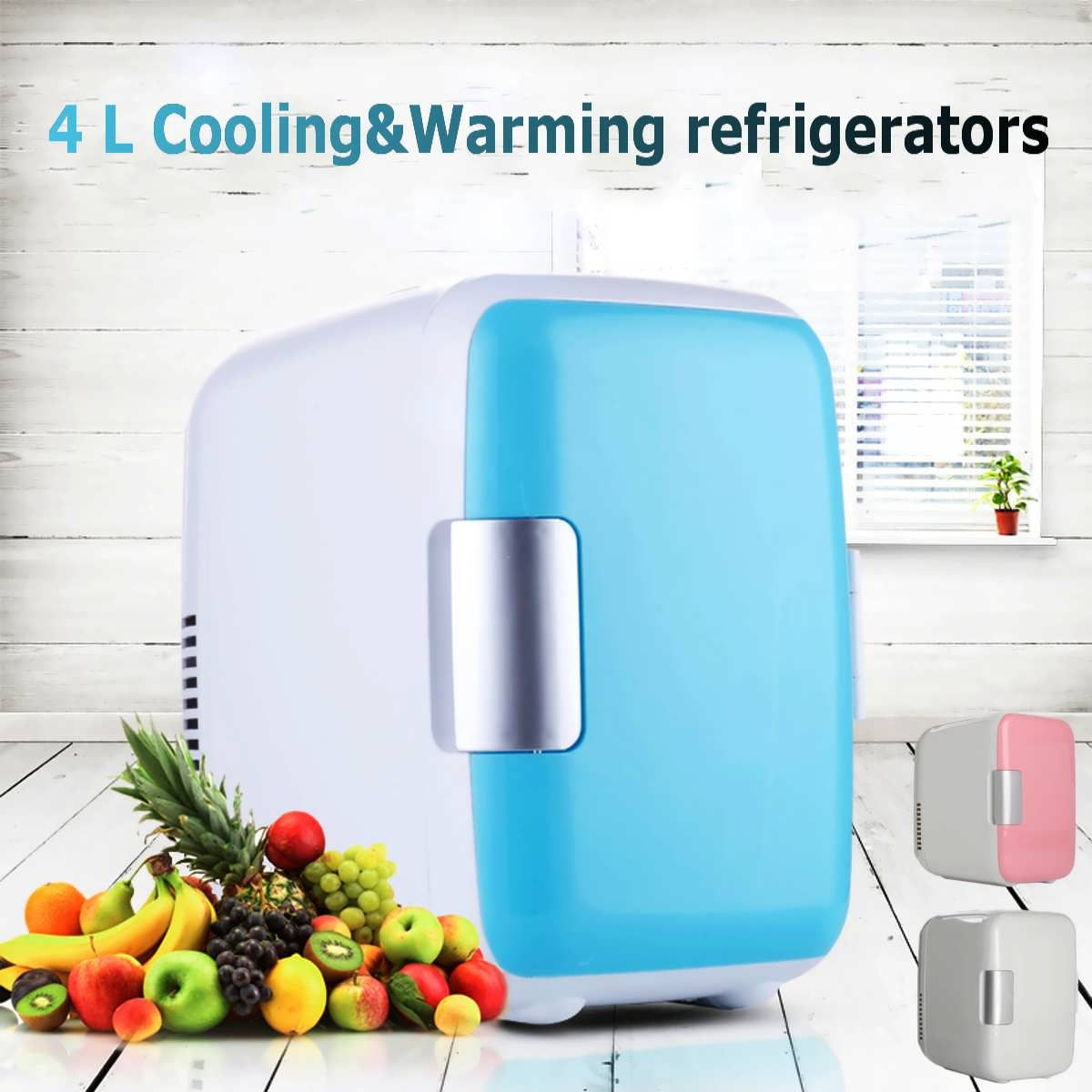 Mini 4l Portable Refrigerator Fridge Freezer Cooler Warmer Car