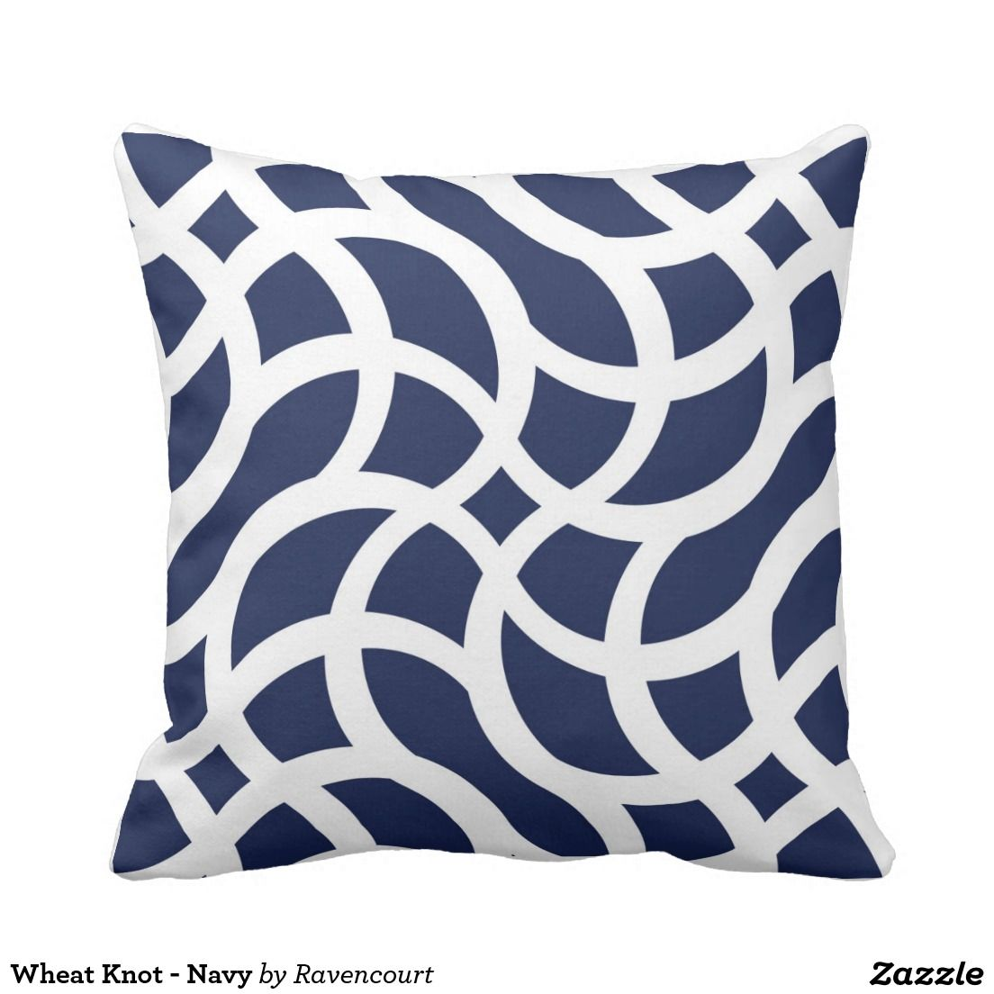 Wheat knot navy throw pillow navy pillows