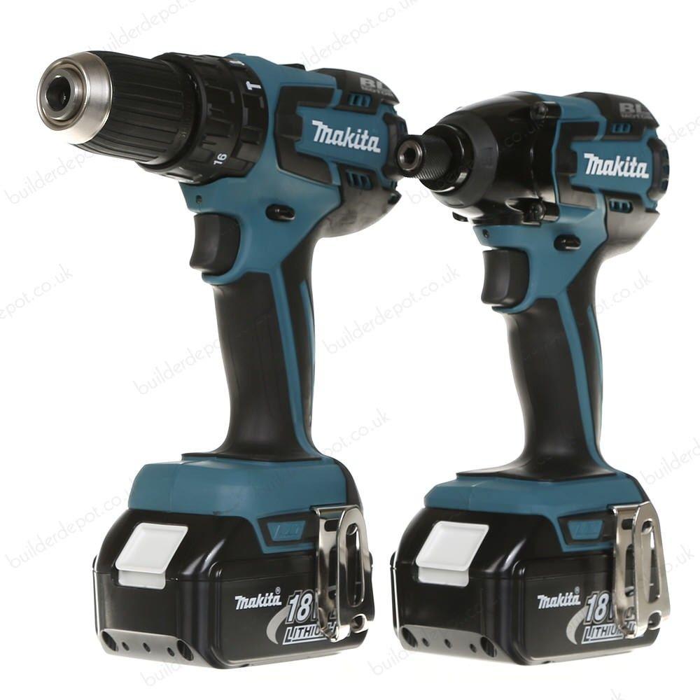 Makita Dlx2007X 18V Brushless Combi Drill/Impact Driver & 3 X 3Ah ...
