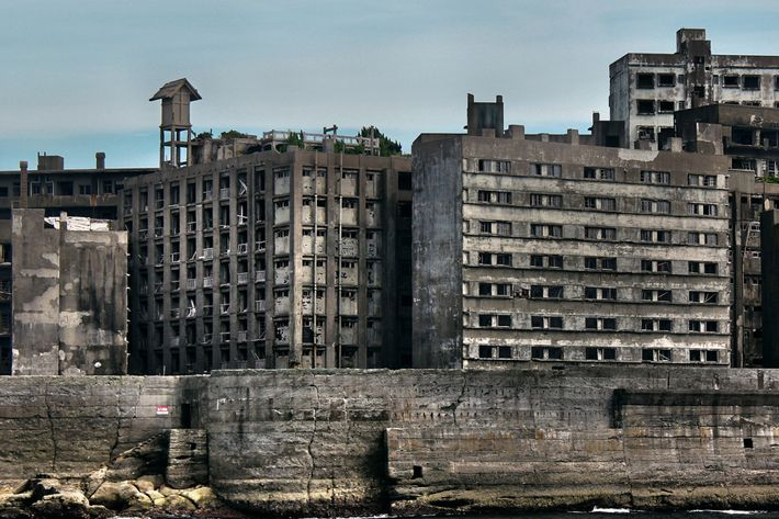 Hashima Island, Japan. Ghost town, abandoned places.