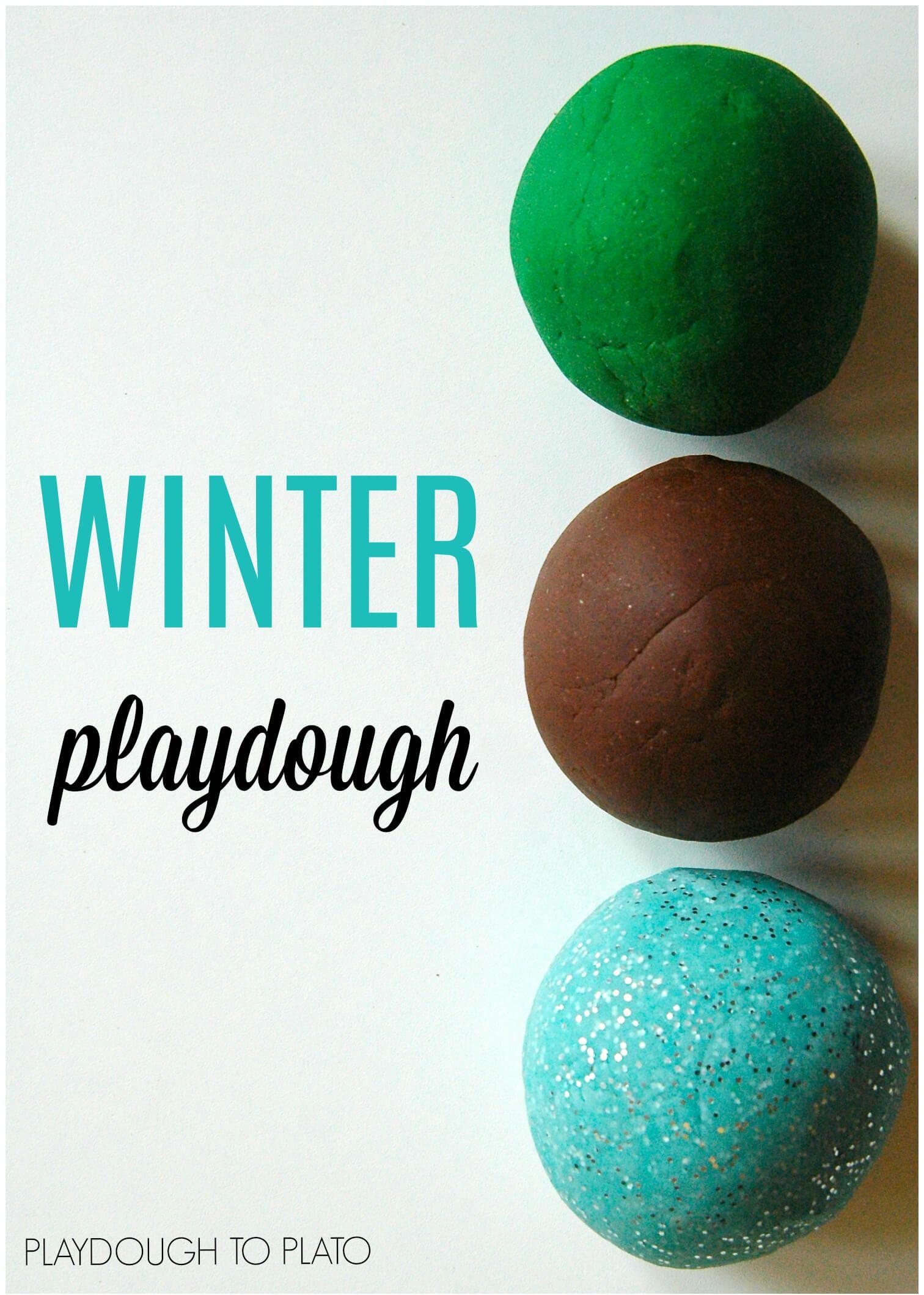 Winter Playdough