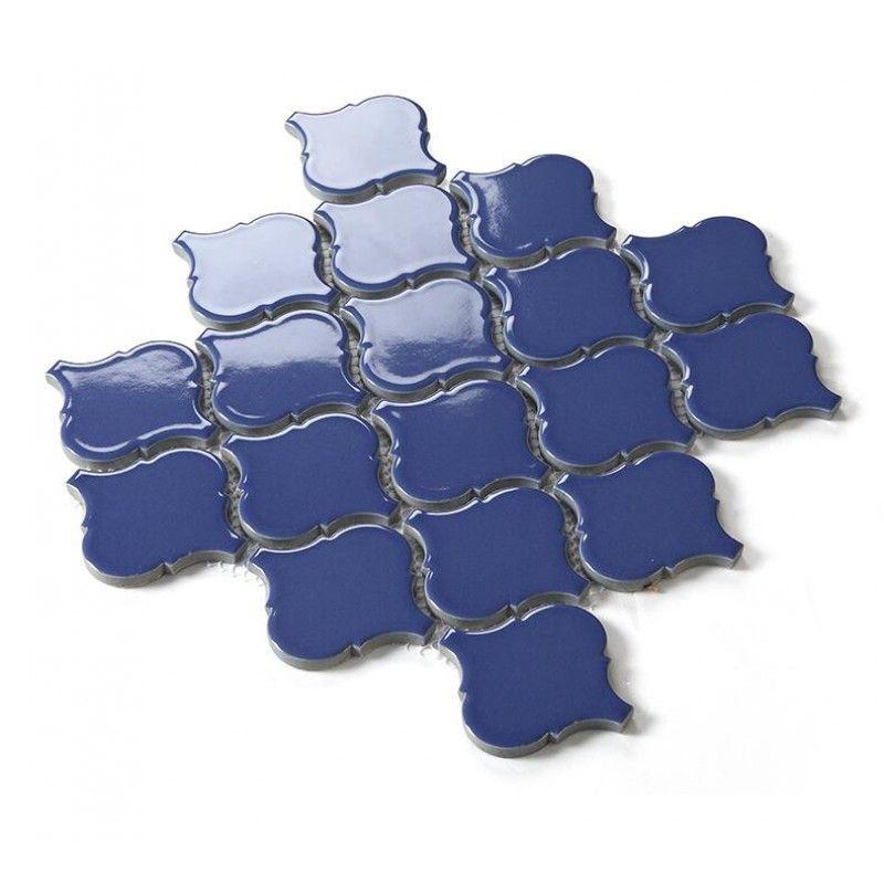 Find This Pin And More On Backsplash Blue Lantern Porcelain Tile