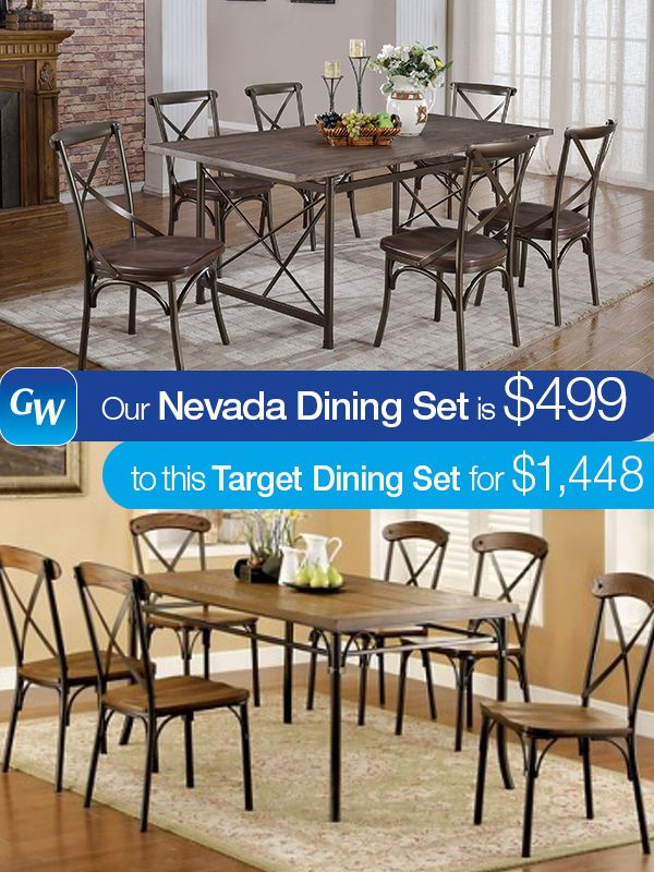 Save almost $1000 with our Nevada dining set!