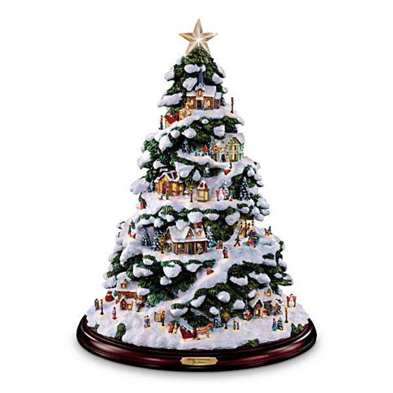 Only 19 99 Buy 2 Get 4 Desktop Christmas Tree Rotating Sculpture Train Diamond Pai In 2020 Thomas Kinkade Christmas Ceramic Christmas Trees Desktop Christmas Tree