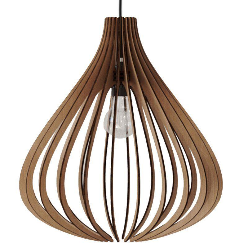 Banta 1 Light Single Geometric Pendant In 2020 Modern Wood Pendant Light Wood Pendant Light Modern Wood Lights