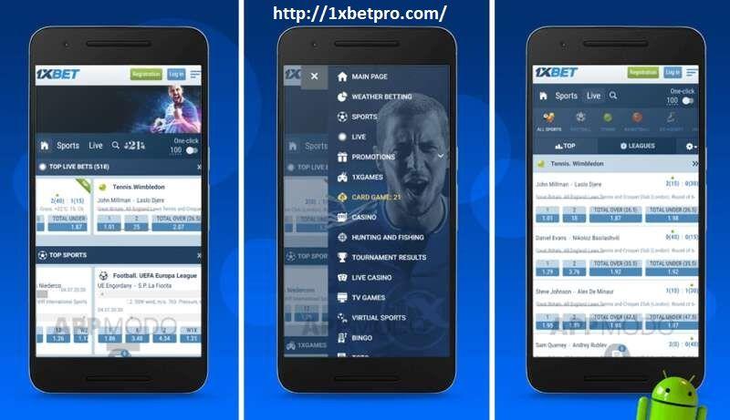 1xbet Android Permainan Olahraga Android Aplikasi