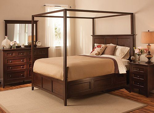 Keystone 4Pcking Canopy Platform Bedroom Set  Bedroom Sets Fascinating Raymour And Flanigan Bedroom Sets Design Inspiration