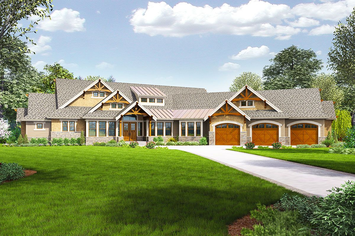 Plan 23681JD 4 Bed Craftsman with Dynamic