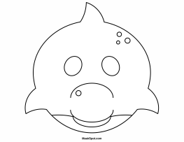 Printable Dolphin Mask to Color (с изображениями